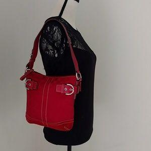 Handbags - COACH Red Signature